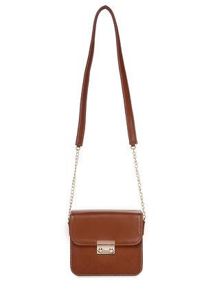 Tan Handcrafted Sling Bag