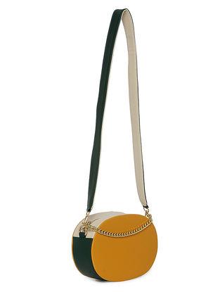 Mustard-Green Handcrafted Sling Bag