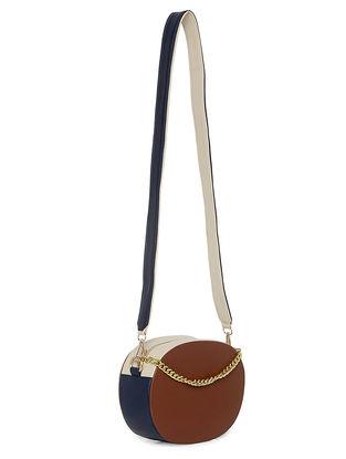 Blue-Brown Handcrafted Sling Bag