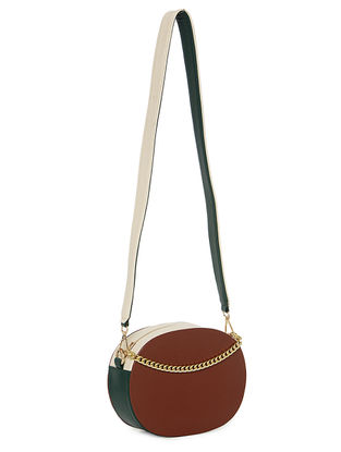 Brown-Green Handcrafted Sling Bag