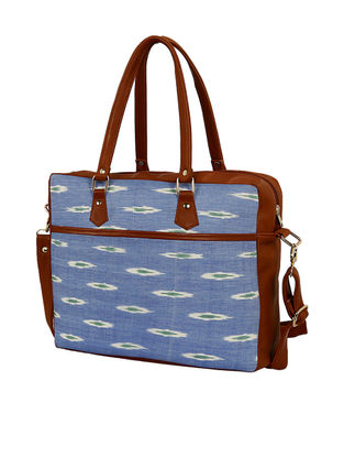 Blue Ikat Handcrafted Laptop Bag