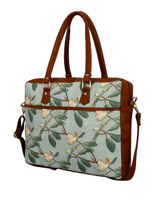 Blue-Green Handcrafted Laptop Bag