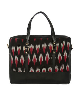 Black-Red Ikat Handcrafted Laptop Bag