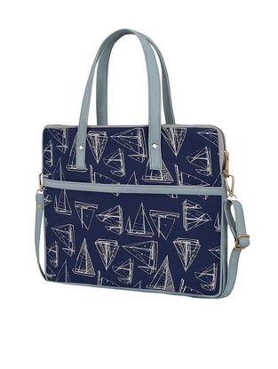Blue Handcrafted Laptop Bag