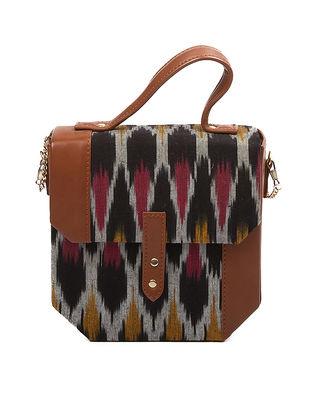 Black-Brown Ikat Handcrafted Sling Bag