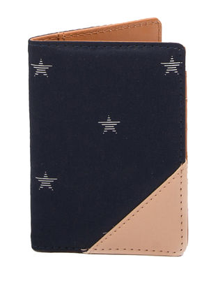 Blue-Peach Handcrafted Passport Cover