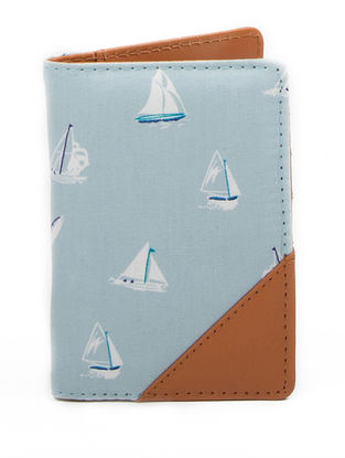 Blue Handcrafted Passport Cover