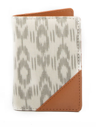 Grey Ikat Handcrafted Passport Cover