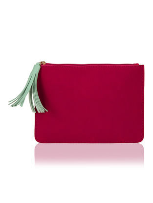 Pink Handcrafted Flat Pouch