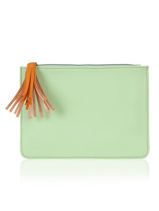 Mint Green Handcrafted Flat Pouch
