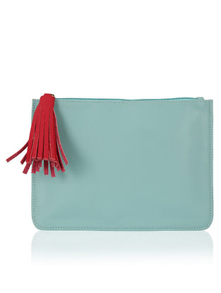 Blue Handcrafted Flat Pouch