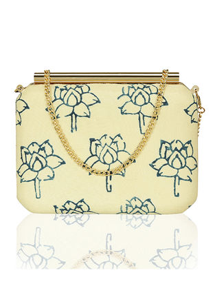 Ivory Handcrafted Silk Clutch