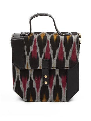Black Ikat Cotton Hexa Sling Bag