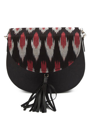 Black Ikat Cotton Sling Bag