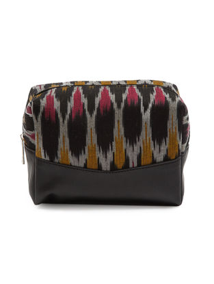 Black Ikat Cotton Pouch