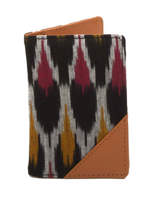 Black-Tan Ikat Cotton Passport Cover