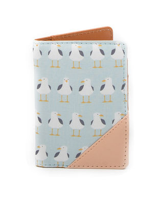 Blue Duck Print Cotton Passport Cover