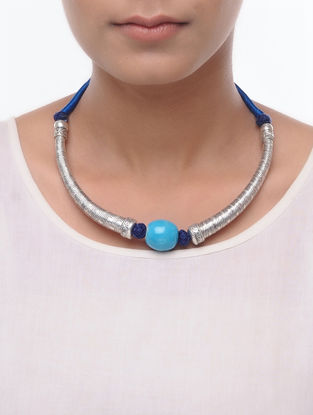 Classic Blue Thread Necklace
