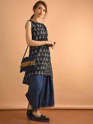 Black Printed Cotton Tunic