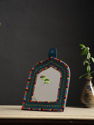 Aaina Jharokha Blue-Multicolored Handmade Leather Mirror