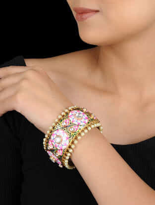 Multicolored Gold tone Meenakari Bangle