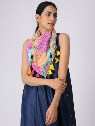 Multicolor Printed Cotton Scarf