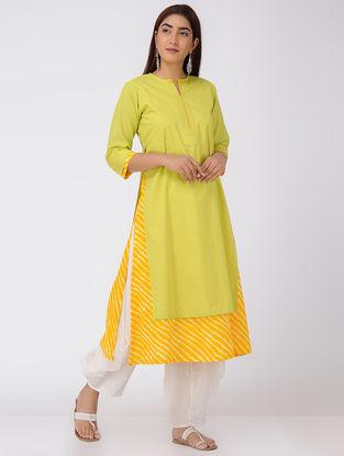 Green-Yellow Double-layer Cotton Kurta