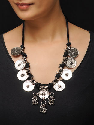 Tribal Necklace with Coin Design