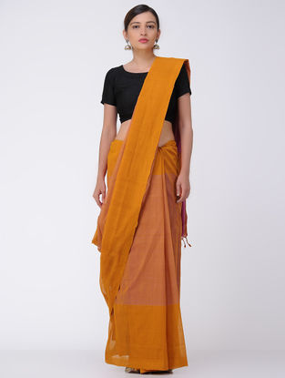Orange-Pink Mangalgiri Cotton Saree