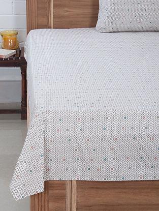 Multi-Color Jaal Screen Printed Bedsheet