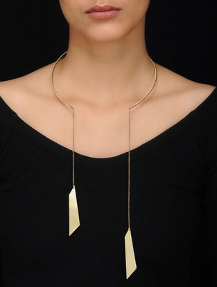 Classic Gold Tone Brass Necklace