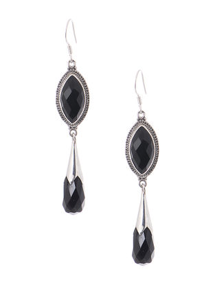 Black Silver Earrings