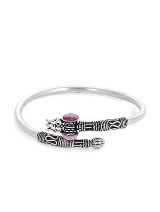 Pink Silver Cuff