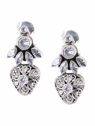 Zircon Silver Earrings