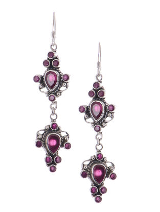 Classic Pink Silver Earrings