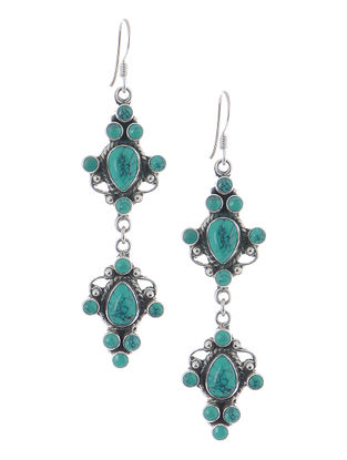 Classic Turquoise Silver Earrings