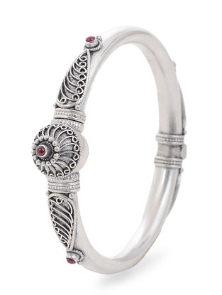 Ruby Silver Bangle (Bangle Size -2/4)