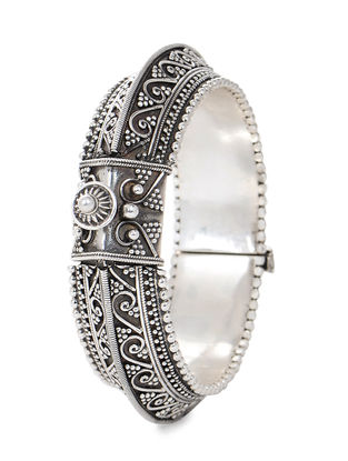 Hinged Opening Silver Bangle (Bangle Size -2/2)