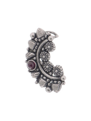 Spinel Ruby Tribal Silver Nath