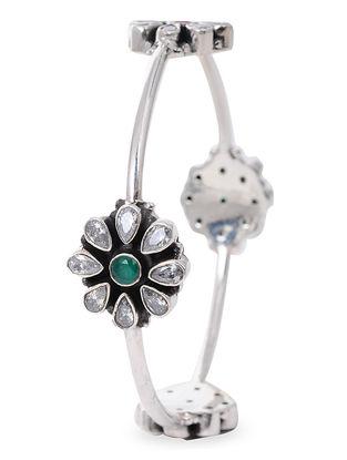 Green Silver Bangle (Bangle Size -2/6)