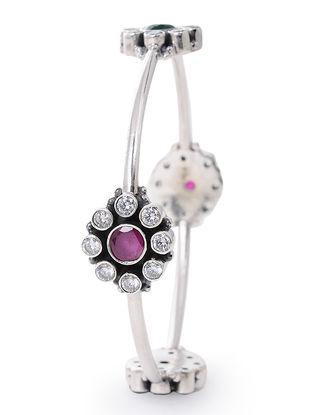 Pink Silver Bangle (Bangle Size -2/6)