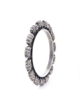 Tribal Silver Bangle (Bangle Size -2/14)
