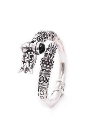 Black Onyx Silver Cuff