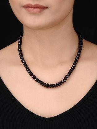 Garnet Beaded Silver Necklace