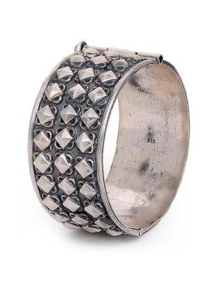 Hinged Opening Tribal Silver Bangle (Bangle Size - 2/4)