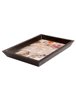 Multi-Color Spiterfield Digital Printed Bath Tray by Nur 13.5in x 9in