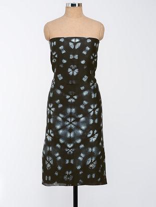 Black-Ivory Clamp-dyed Chanderi Kurta Fabric