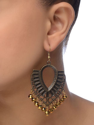 Brown Gold Tone Earrings