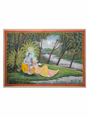 Hand-Painted Pichwai with Radha Krishna (50.5in x 73in)