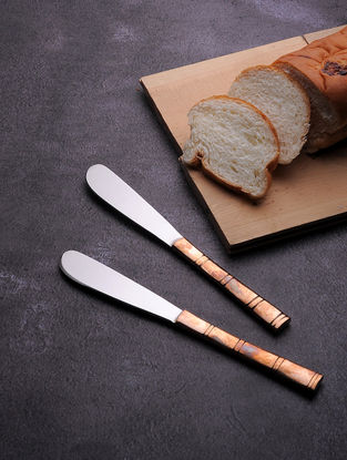 Stainless Steel Knife with Copper Finish (Set of 6) (7.2in x 0.7in)